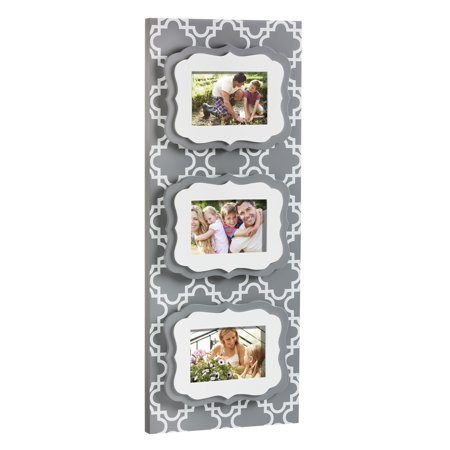 Cypress Home Quatrefoil Tiered 4x6 Wooden Picture (Cypress Frames)