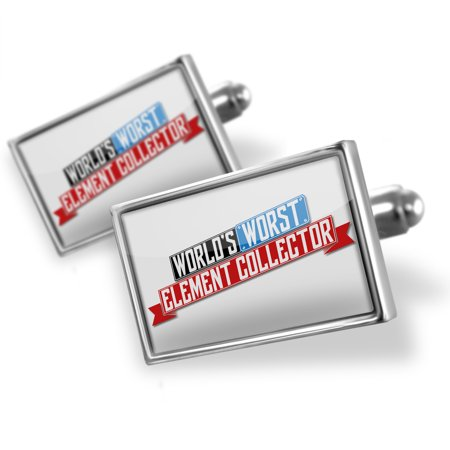 Cufflinks Funny Worlds worst Element Collector - NEONBLOND