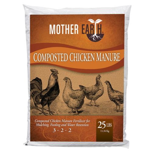 Mother Earth Composted Chicken Manure 25 lbs by Mother Earth
