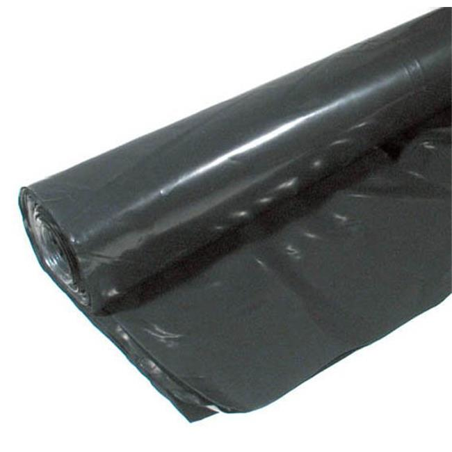 Poly-america 6 X 100 6 ML Tyco Polyethylene Black Plastic Sheeting  CF0606B