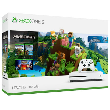 Microsoft Xbox One S 1TB Minecraft Bundle, White, 234-00506](xbox one s cheapest price)