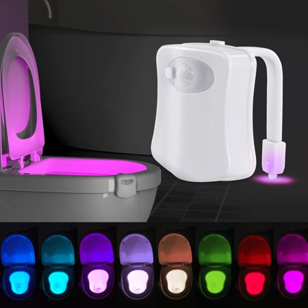Toilet Night Light  Motion Activated Toilet Night Light  Two Modes With 8 Color Changing   Motion Sensor Led Washroom Night Light   Fits Any Toilet
