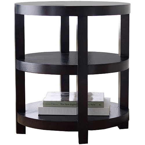 Abbyson Living Tristan Solid Hardwood Round End Table, Espresso