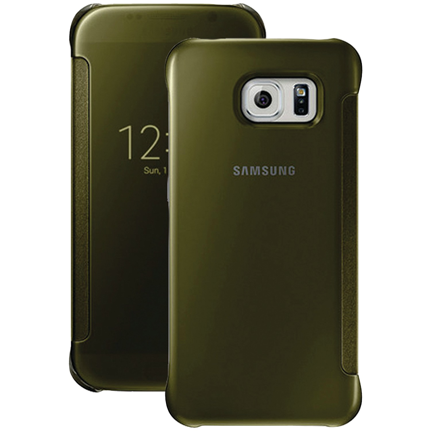 Samsung 34-2888-05-XP S-View Flip Cover for Samsung Galaxy S 6 (Clear/Gold)