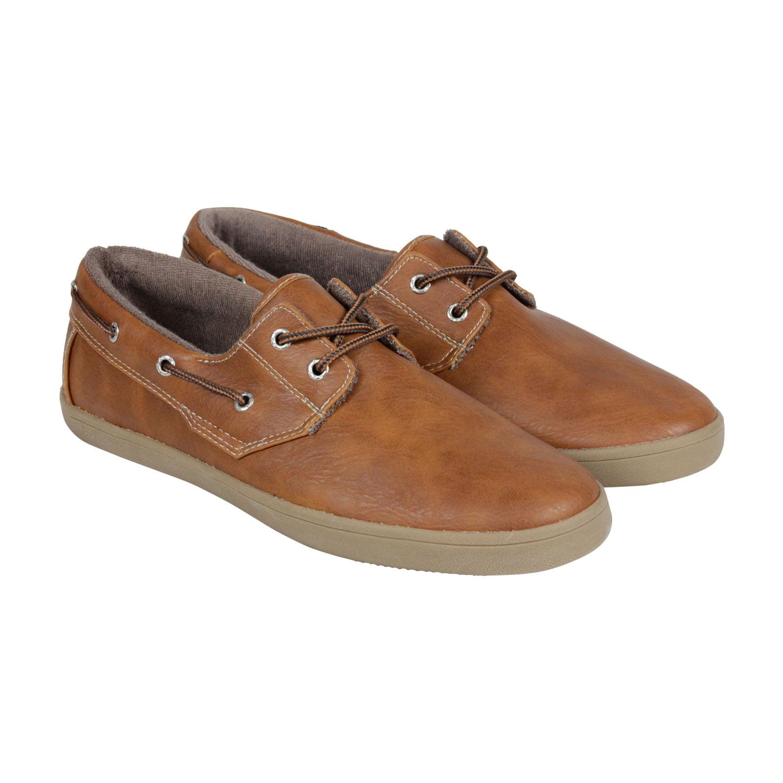 GBX Lott Mens Tan Casual Dress Slip On Boat Shoes Shoes by GBX