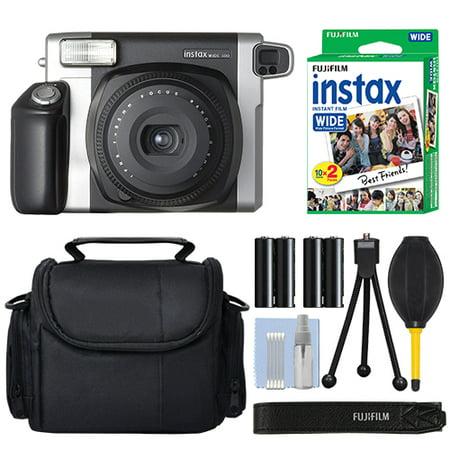 Fujifilm INSTAX Wide 300 Fuji Instant Camera Black + 20 Film