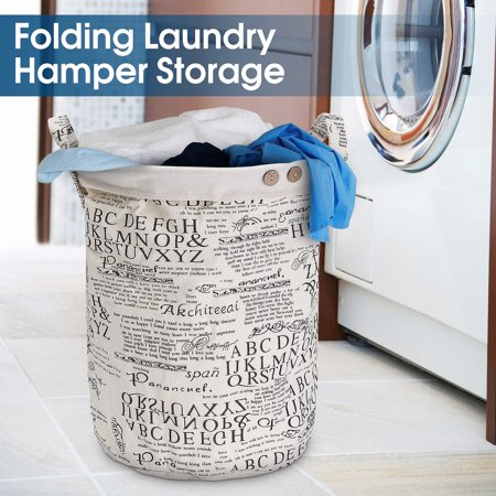 Foldable Cotton Washing Laundry Basket Hamper Linen Sorter Clothes Storage Bag Dirty Clothes Toy Storage](Dirty Laundry Basket Halloween Costume)