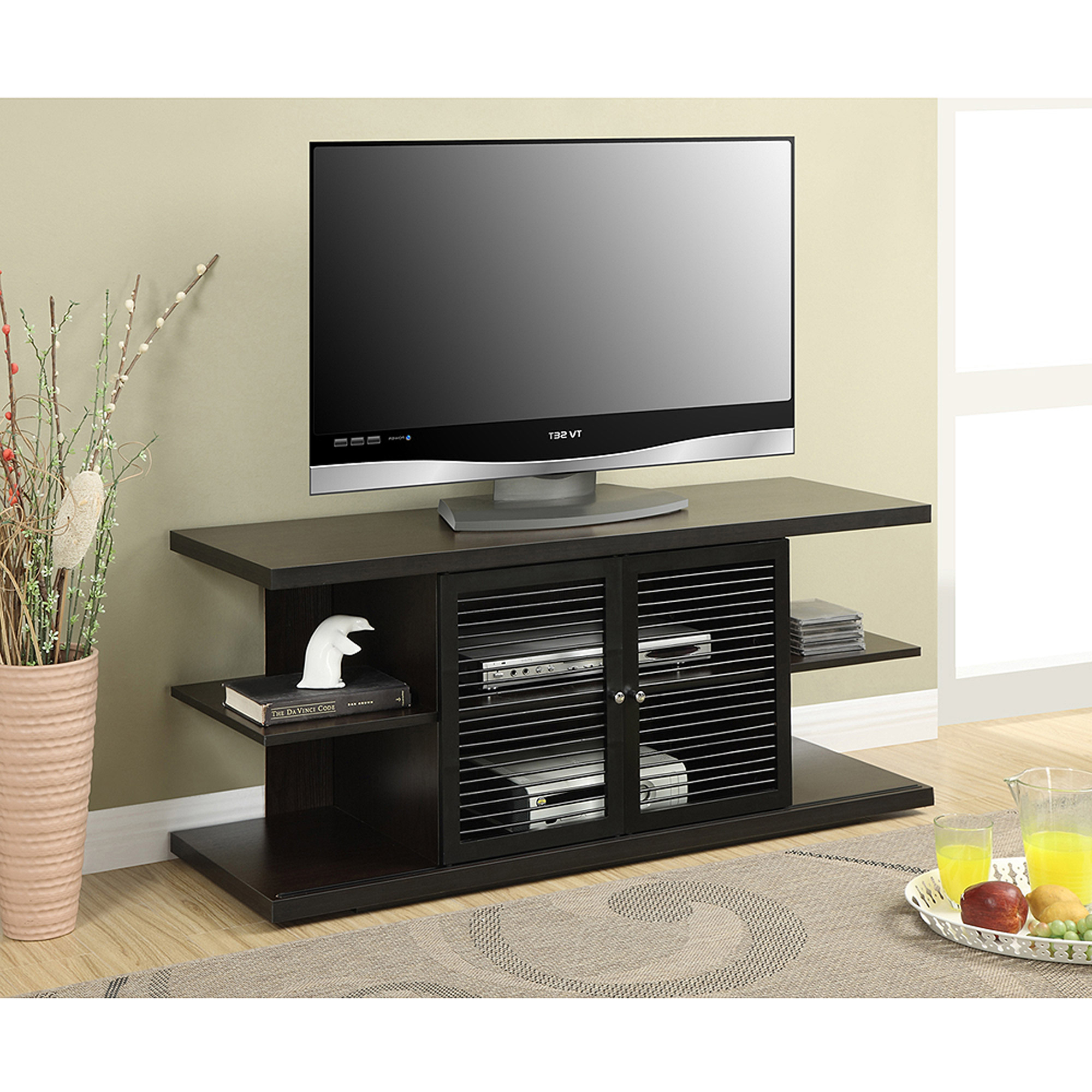 "Convenience Concepts Designs2Go East Hampton TV Stand for TVs up to 50"", Black/Espresso"