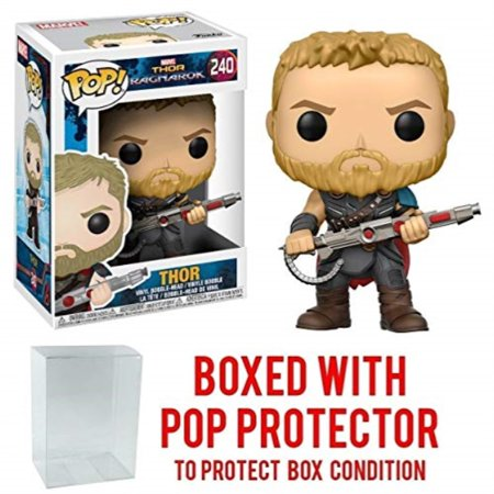 Funko Pop! Marvel: Thor Ragnarok - Thor Gladiator Suit #240 Vinyl Figure (Bundled with Pop BOX PROTECTOR CASE)