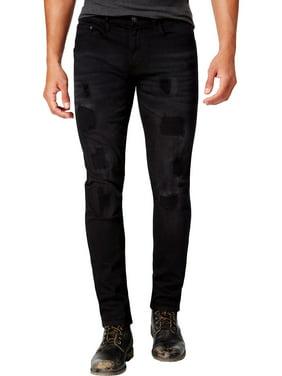 Ring Of Fire Mens Danvers Slim Fit Denim Skinny Jeans Black 34/30