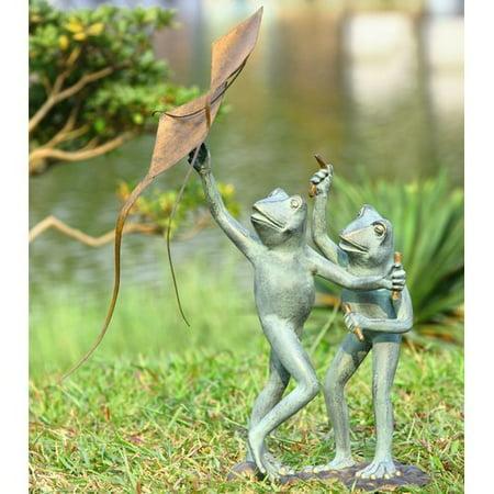 SPI Home Frog Kite Flyers Garden Statue