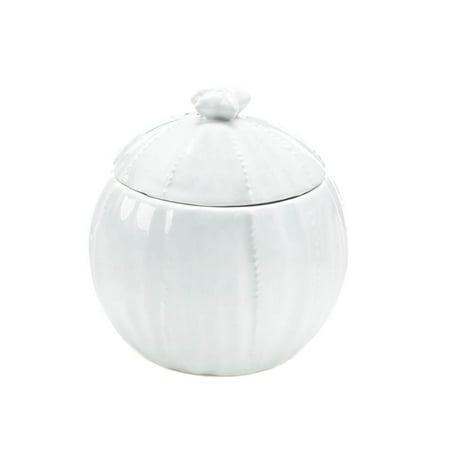 Small Ceramic Jar, Pure White Cotton Ball Container Food Ceramic Coffee Jar