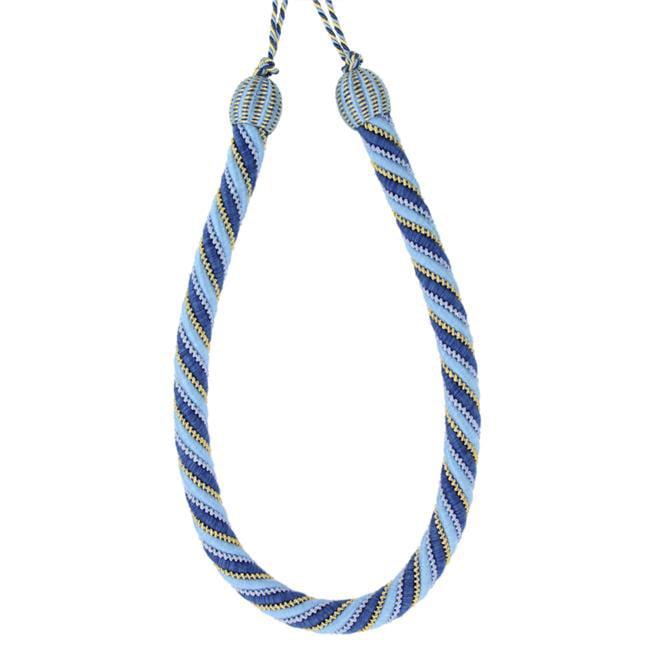 Trimland 1040-B3-1523 32.62 in. Rope Tieback, Navy, Blue, Gold & Cream