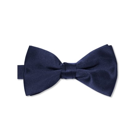 Avery Hill Boys Deluxe Satin Bow Tie Tuxedo - White Bowtie