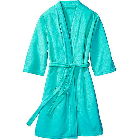 Girls Terry Cloth Robes - Granada Women's and Women's Plus 3/4-Sleeve Lightweight Terry Robe