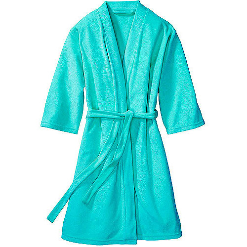 Women's and Women's Plus 3/4-Sleeve Lightweight Terry Robe