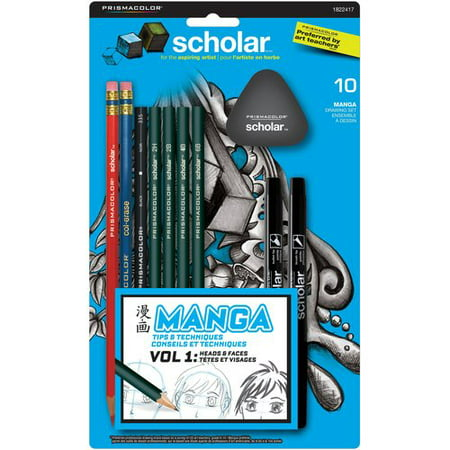 Prismacolor Scholar Manga Set, 10-Piece