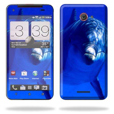 Mightyskins Protective Skin Decal Cover for HTC Droid DNA or HTC J Cell Phone Verizon wrap sticker skins Dolphin