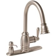 Premier Sonoma Kitchen Faucet With Pull-Down And Soap Dispenser, 1.8 Gpm, Brushed Nickel, Lead Free*
