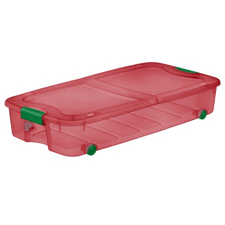 Sterilite, 66 Qt./62 L Ultra™ Storage Box, Christmas