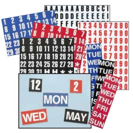 - Magna Visual FH-33 1in. H Calendar Dates 1-31 Magnetic Headings White on Red