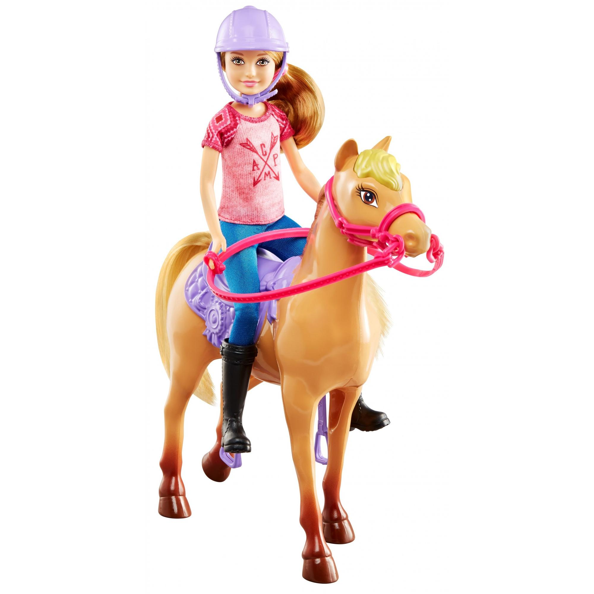 Barbie Camping Fun Stacie Doll & Horse Set with Themed Accessories by MATTEL INC.