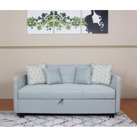 Best Quality Furniture Sofa Bed Gray or Light Blue - Walmart.com