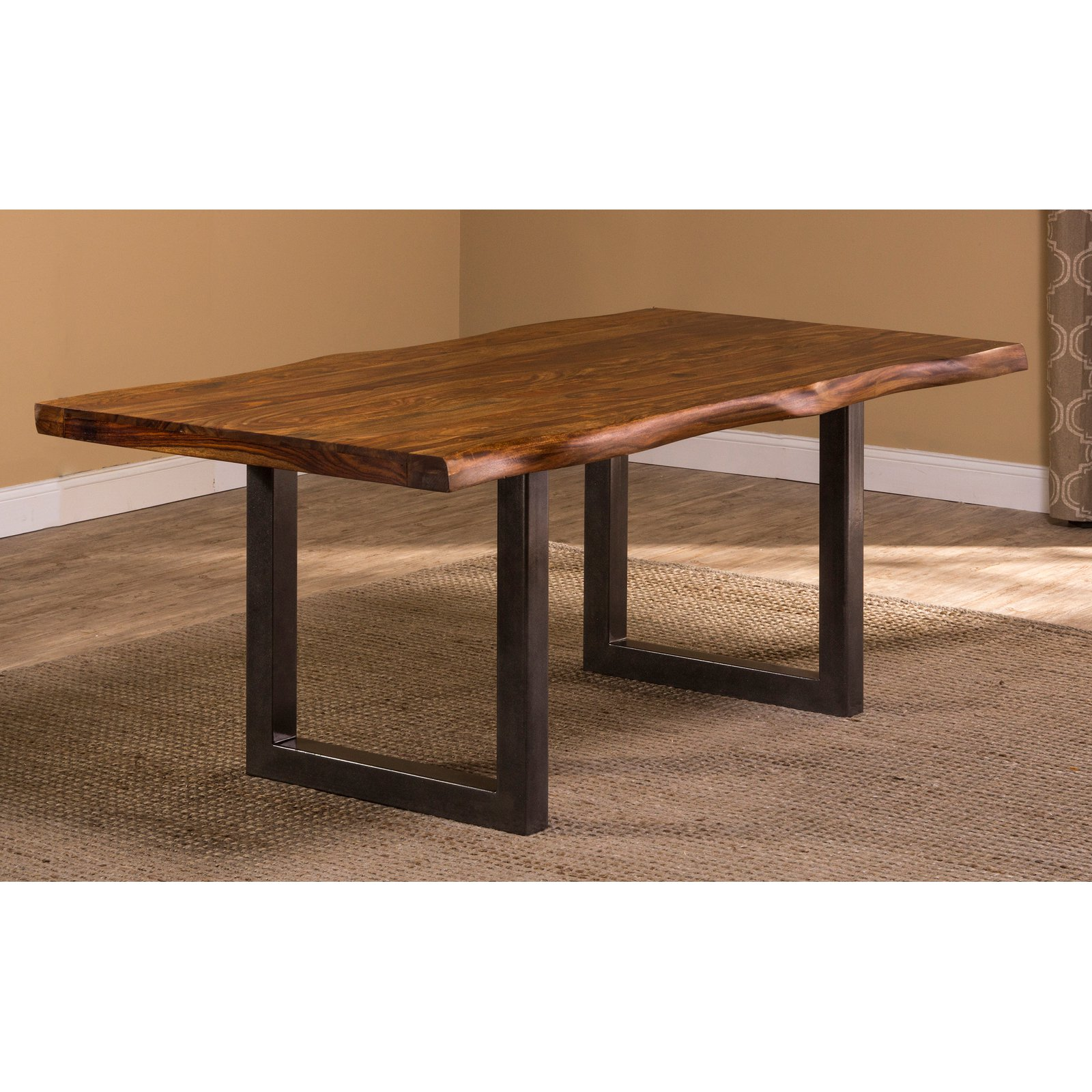 Hillsdale Furniture Emerson Rectangle Dining Table, Gray Sheesham