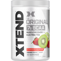 Xtend Original BCAA Powder, Branched Chain Amino Acids, Sugar Free Post Workout Muscle Recovery Drink with Amino Acids, 7g BCAAs for Men & Women, Strawberry Kiwi Splash, 30 Servings