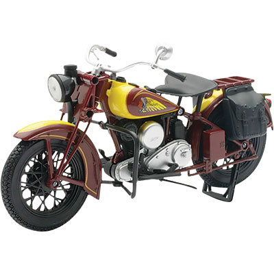 NewRay 1:12 Scale Motorcycle Indian Sport Scout 1934 Yellow Brown Black by New Ray