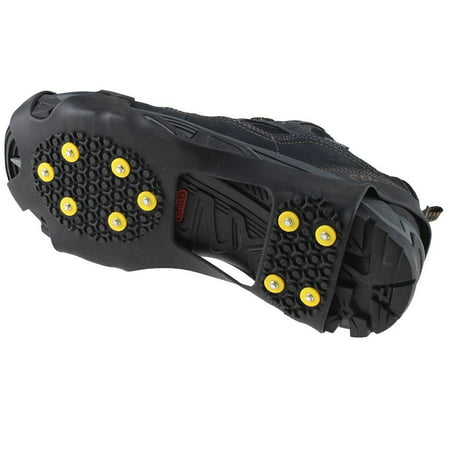 Grip Replacement Cleats (AGPtek Anti Slip Grip Shoe Covers Overshoes Snow Shoes Crampons Cleats for Ice Snow)
