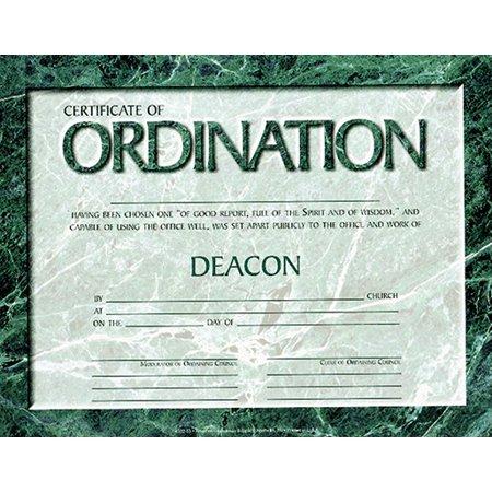 Certificate-Ordination-Deacon w/Signatures (Parchment) (8-1/2