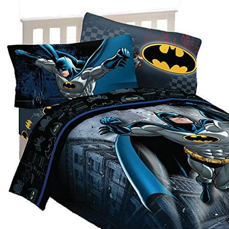 4pc Dc Comics Batman Twin Bedding Set, Batman Twin Bedding Set