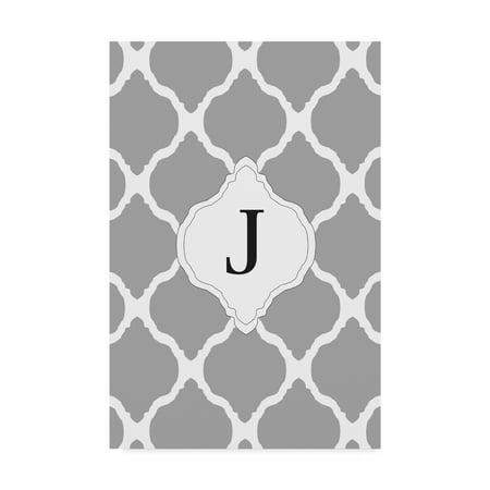 Trademark Fine Art 'J Gray Monogram' Canvas Art by Art Licensing Studio - Monogram Canvas