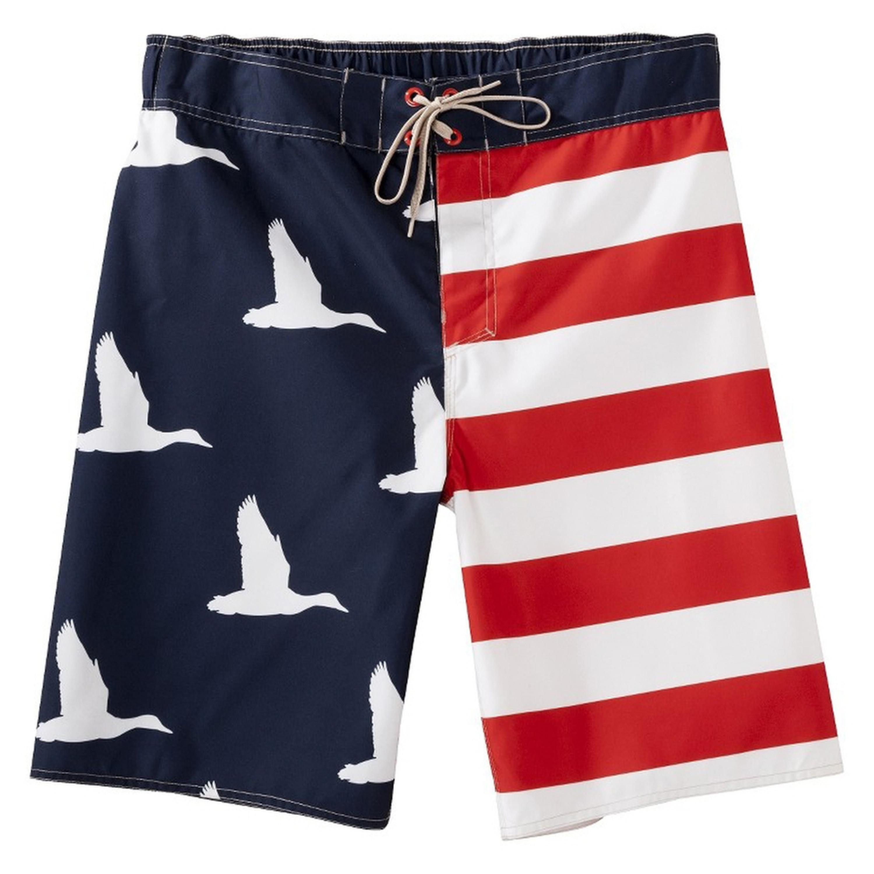 Duck Dynasty - Ducks American Flag Board Shorts