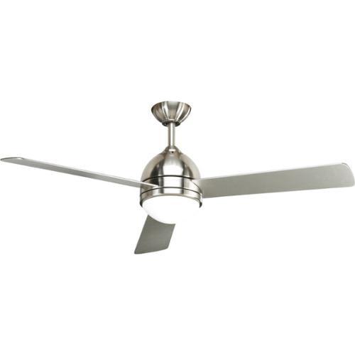 Progress lighting trevina 52 inch 3 blade brushed nickel ceiling fan lighting fixture