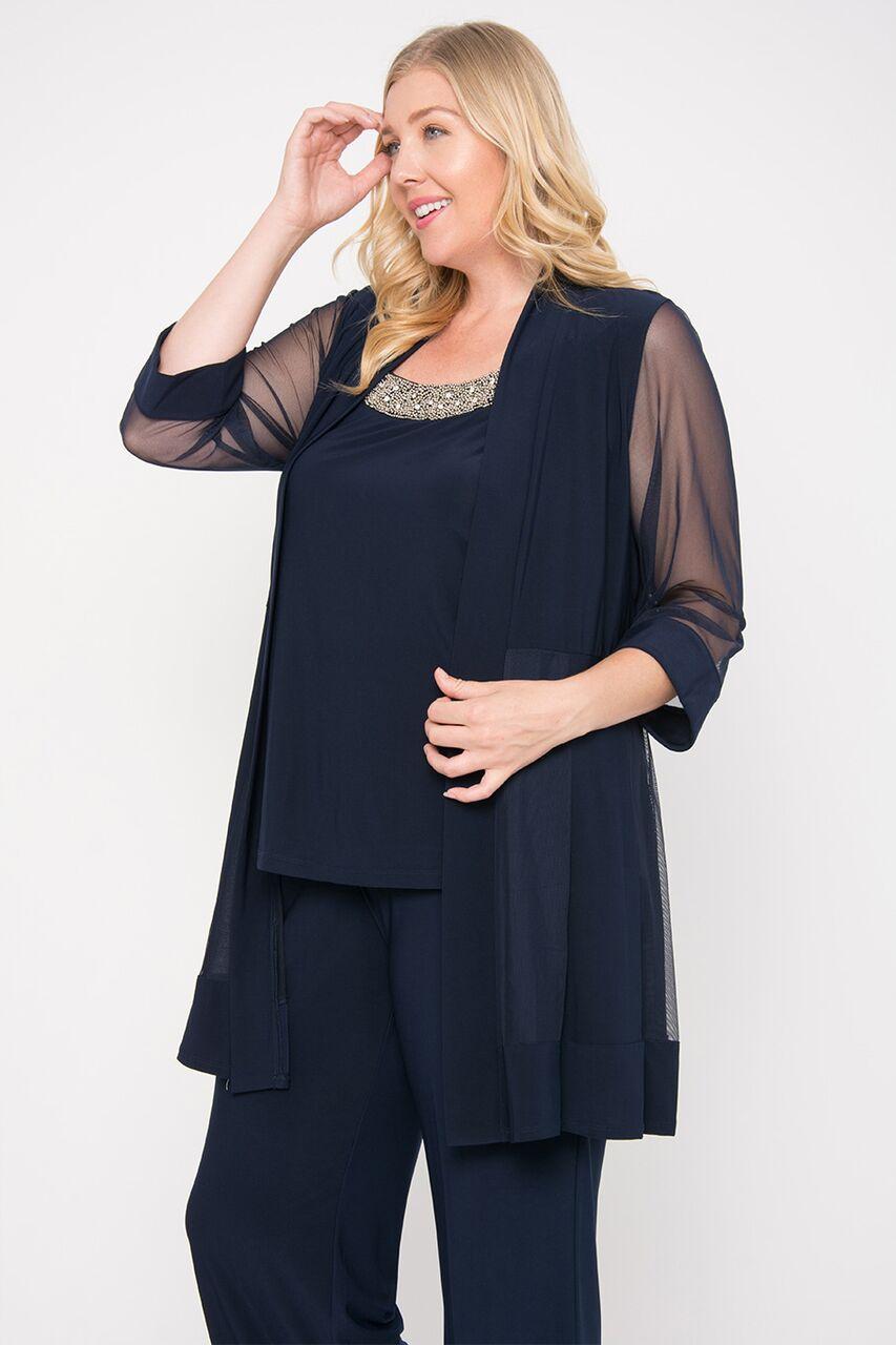 a7bff3ca4ee65 The Dress Outlet - R M Richards Long Formal Formal Pant Suit Plus Size Dress  - Walmart.com