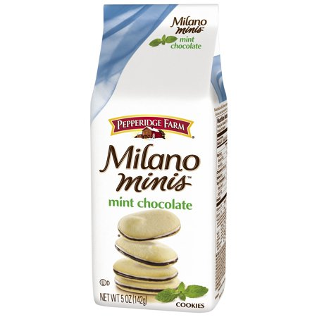 Pepperidge Farm  Milano Minis  Mint Chocolate Cookies 5 Oz  Stand Up Bag
