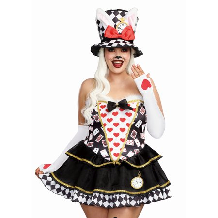 Dreamgirl Women's Cute Plus-Size White Rabbit Storybook Costume Dress (Cute Thing One And Two Costumes)