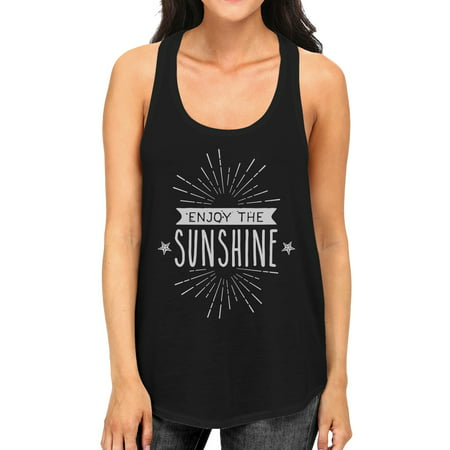 Enjoy The Sunshine Womens Black Sleeveless Lightweight Summer