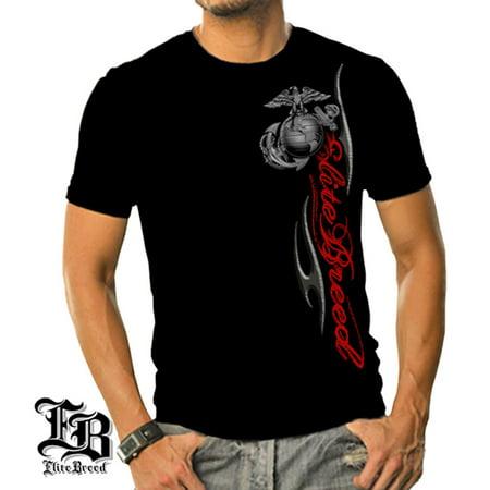 - Cotton Elite Breed USMC Marine Corps T-Shirt