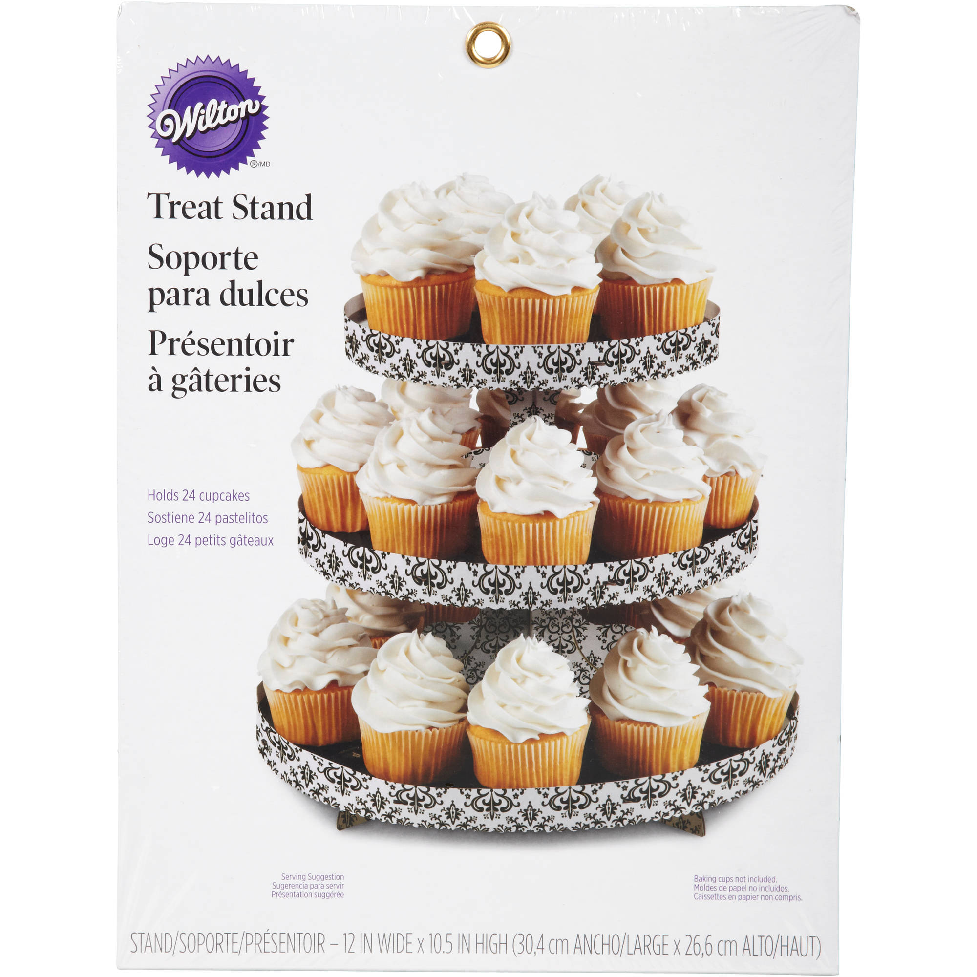 Wilton 3-Tier Treat Stand, Damask, 24 hold 1512-0703