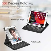 """Fintie Keyboard Case for iPad 7th Generation 10.2"""" 2019-360 Degree Rotating Smart Stand Cover w/Pencil Holder, Built-in"""