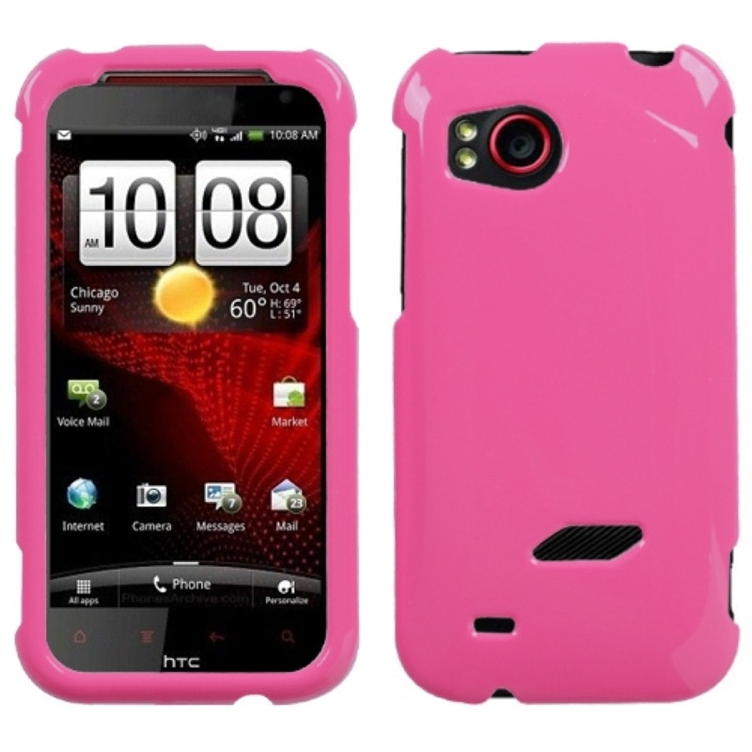 Insten Natural Blush  Phone Case for HTC: ADR6425 (Rezound)