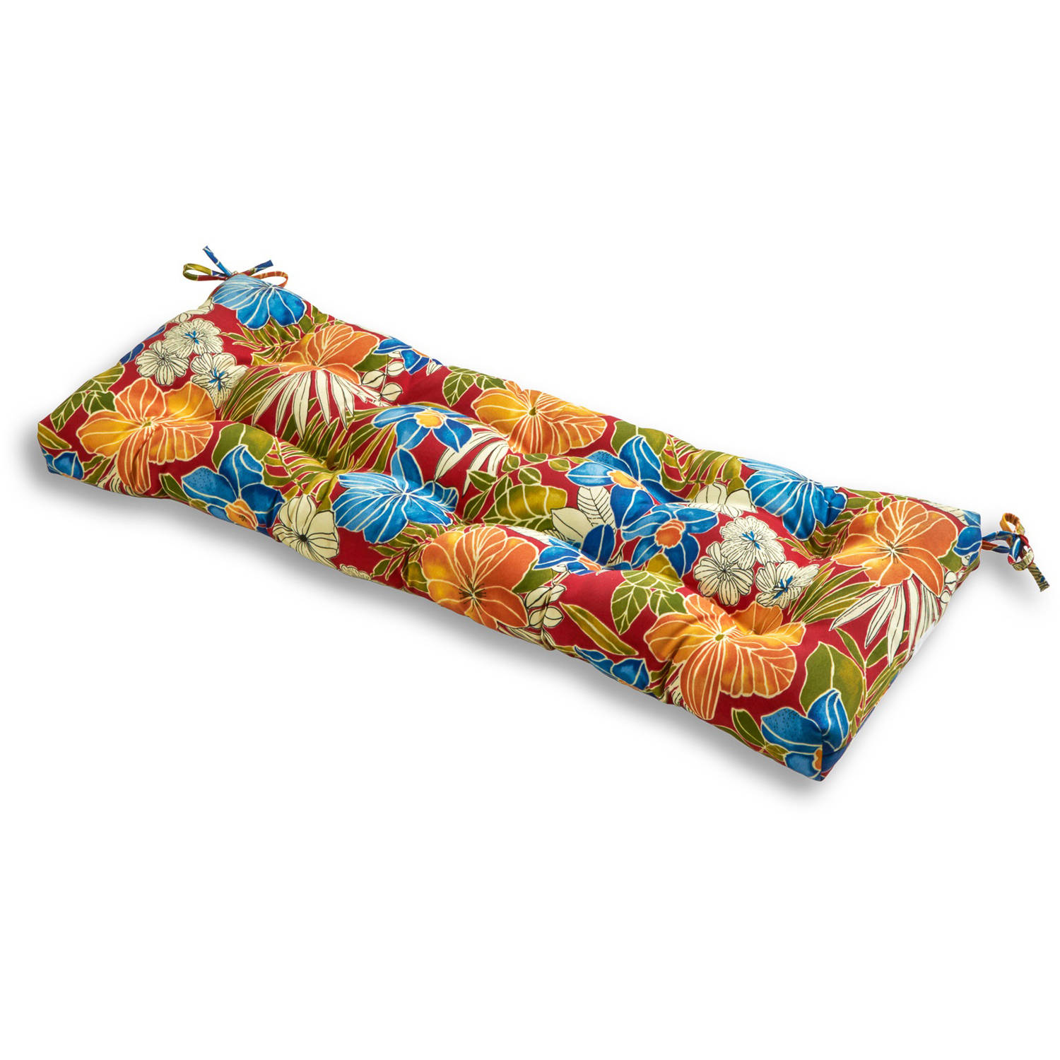 "51"" Outdoor Bench Cushion, Aloha Red"