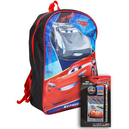 "Cars Boys Lightning McQueen 15"" Backpack & 4Pc Study Kit - image 1 of 2"