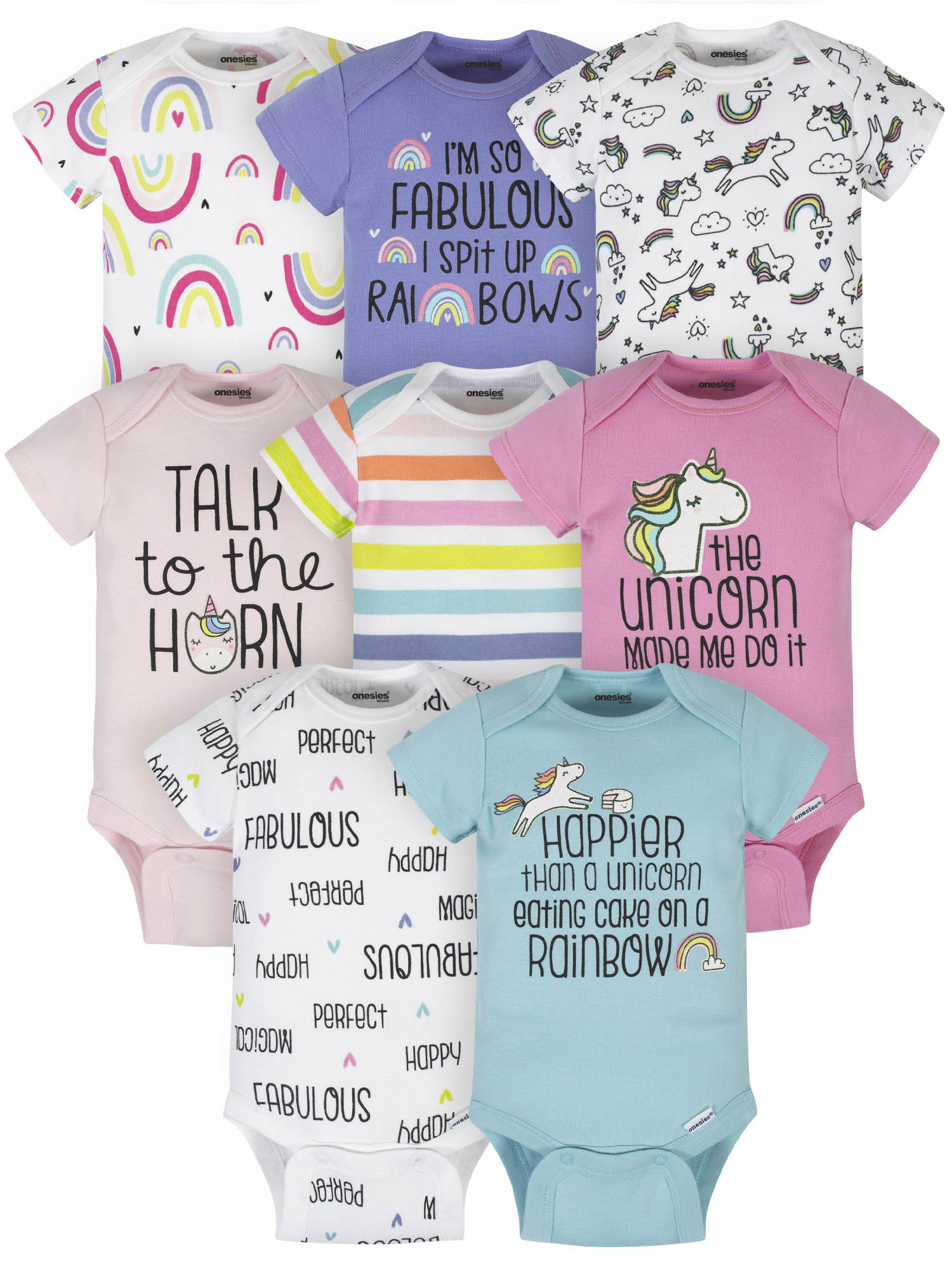 Baby PACK OF 3 Long Sleeve Bodysuit Vests Tops Tiny Prem Baby to 12 Months