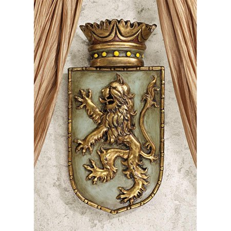 Design Toscano Medieval Rampant Lion Shield Wall Sculpture - Medieval Designs