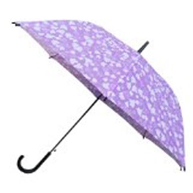 Conch Umbrellas 1089BPuprle 43 inch Automatic Open Median Stick With Drip Less Cup Over The Umbrella
