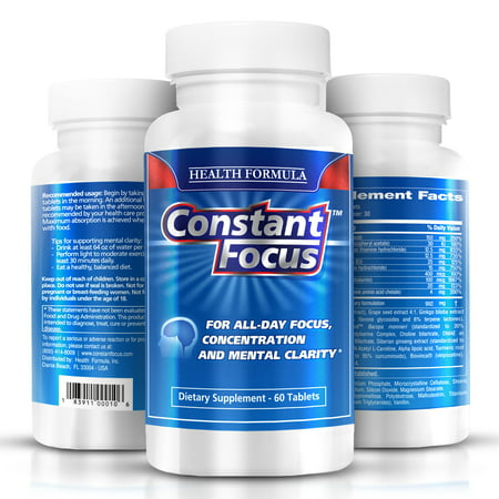Premium Natural - Constant Focus - Premium Natural Nootropic Brain Health Supplement
